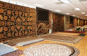 Area Rugs bound from carpet remnants